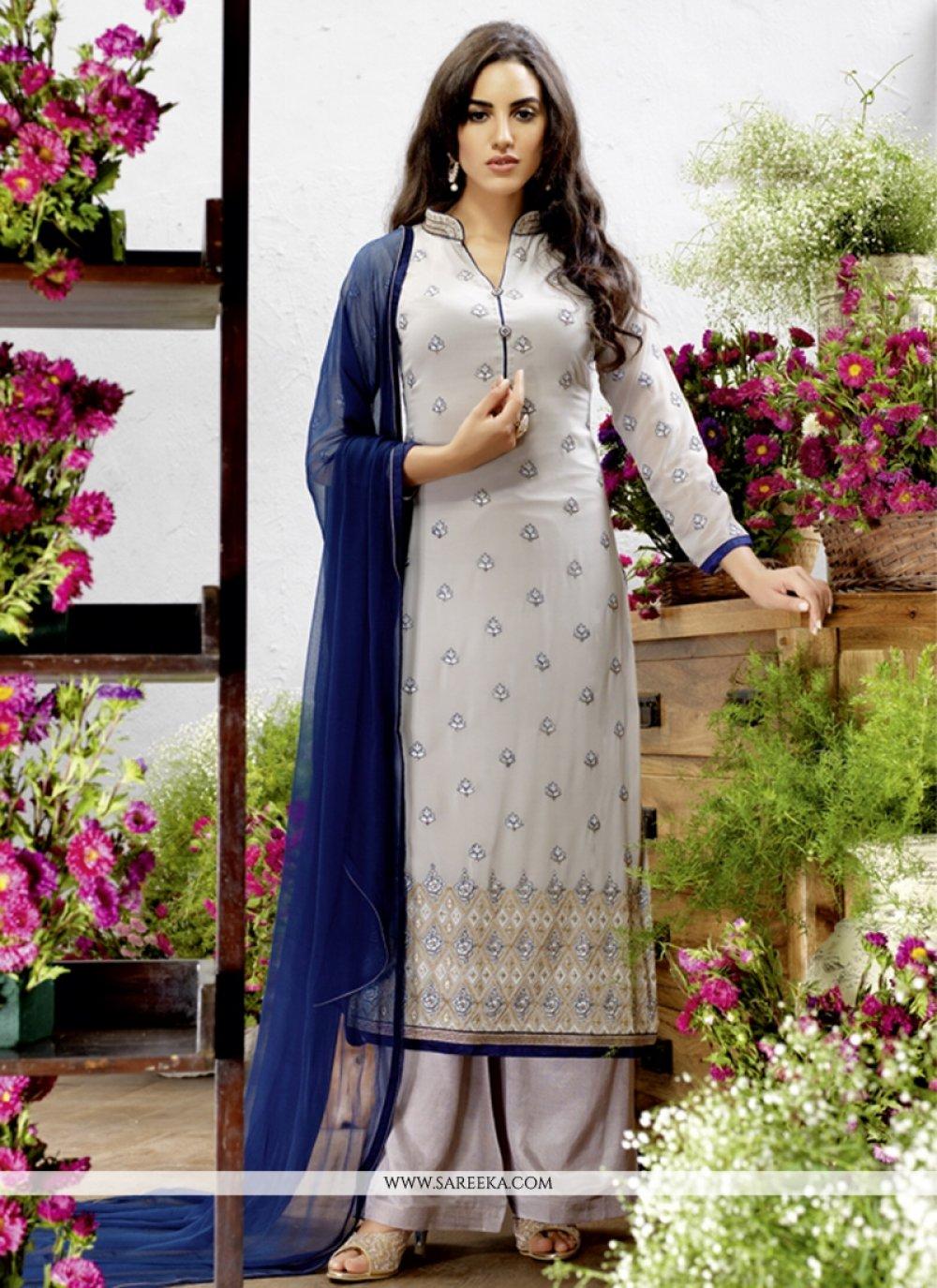 Georgette Resham Work Designer Pakistani Suit