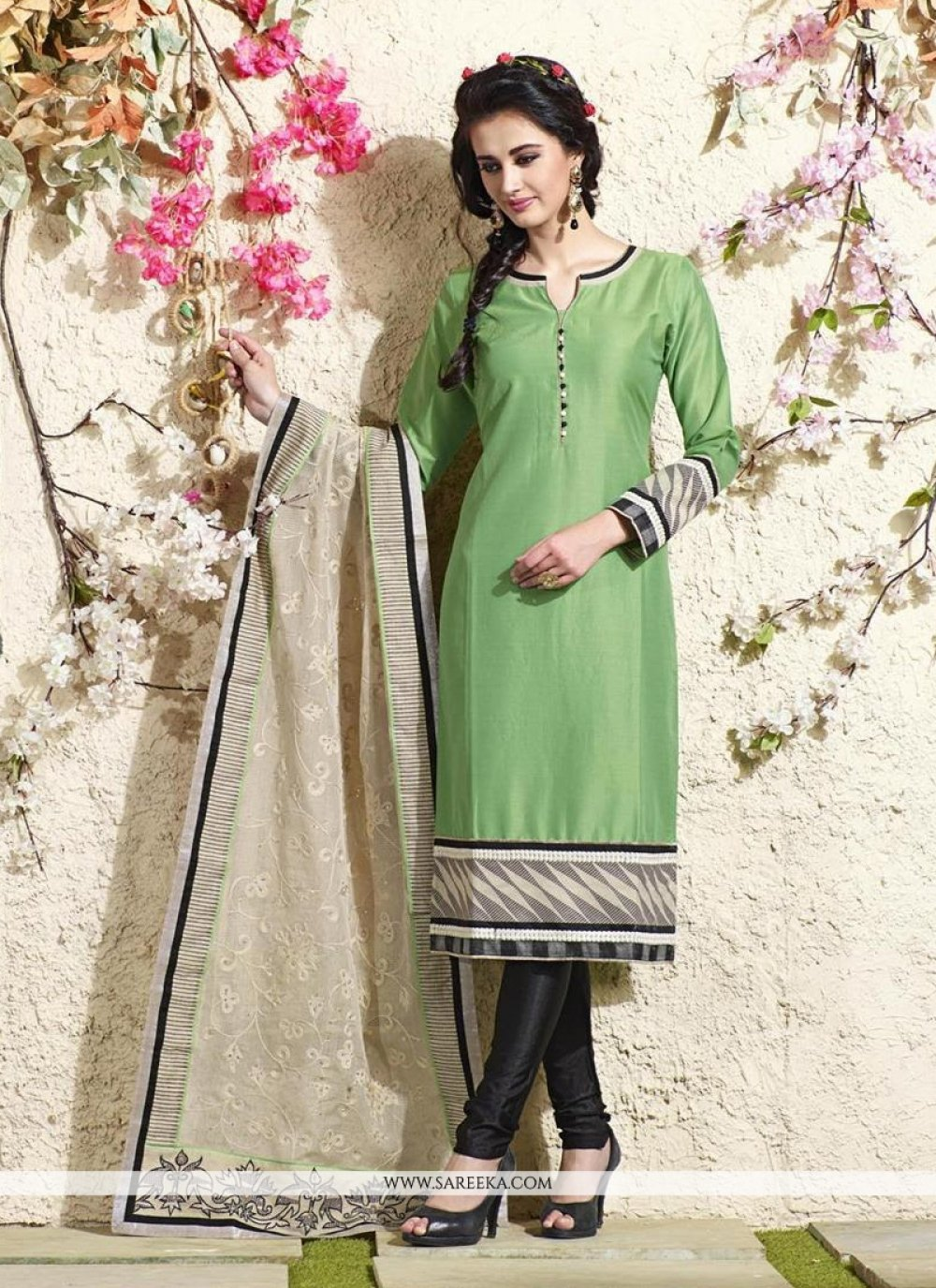 Lace Work Readymade Suit