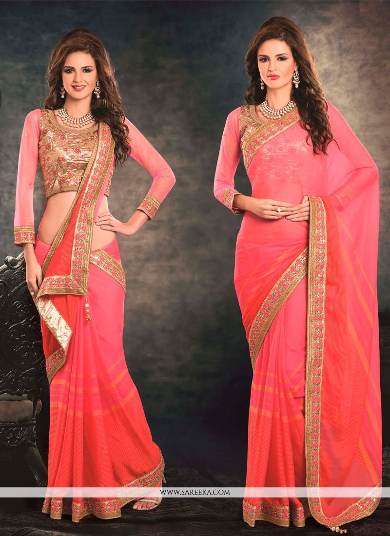Embroidered Work Jacquard Classic Designer Saree