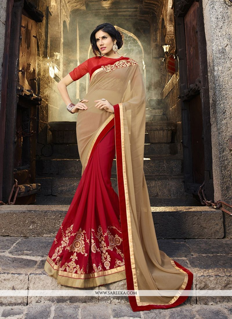 Embroidered Work Georgette Classic Designer Saree