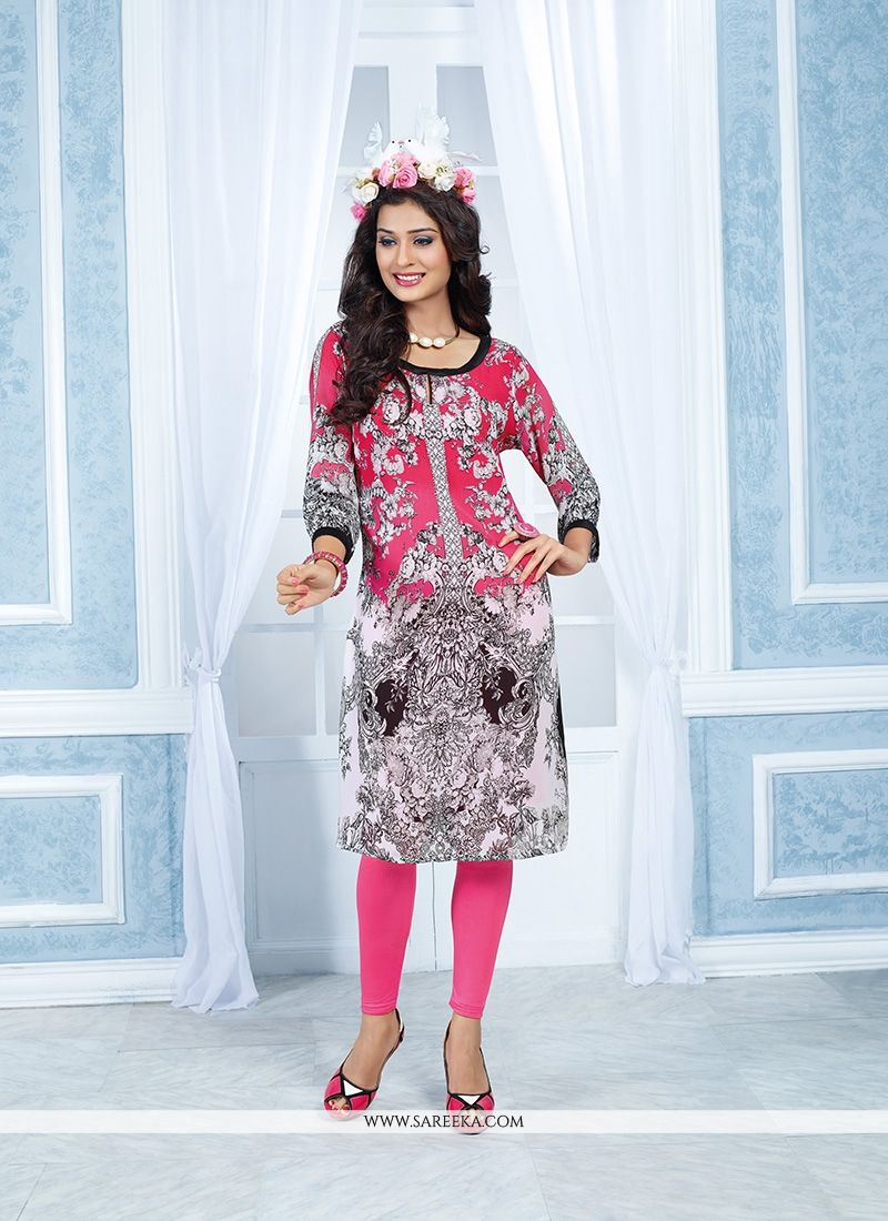 Georgette Multi Colour Party Wear Kurti