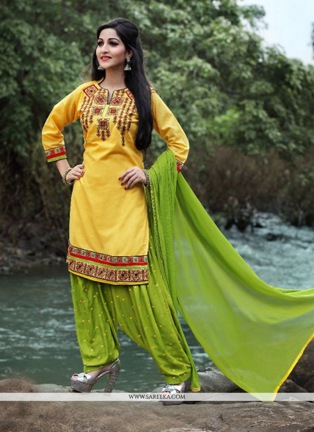 Yellow Punjabi Suit