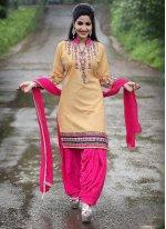 Beige Punjabi Suit