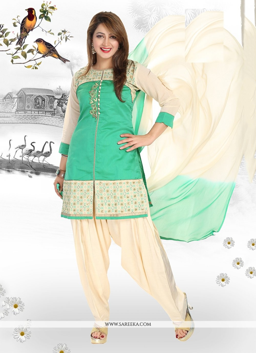 Chanderi Readymade Suit