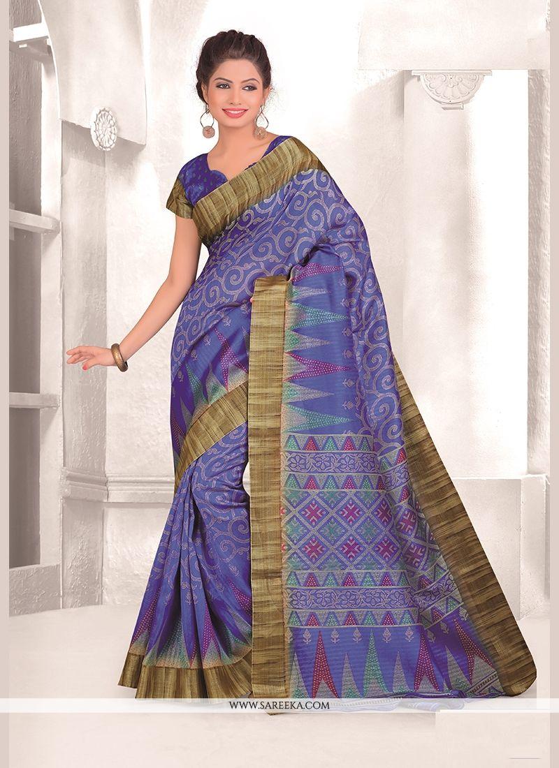 Blue Mysore Udyog Casual Saree