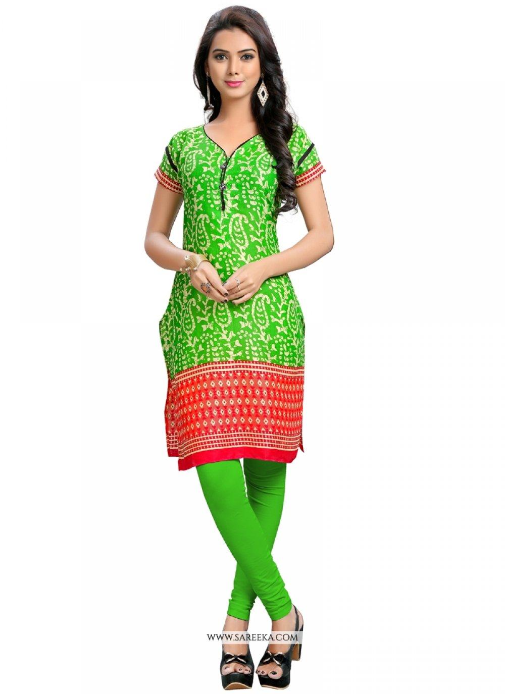 Green Party Wear Kurti
