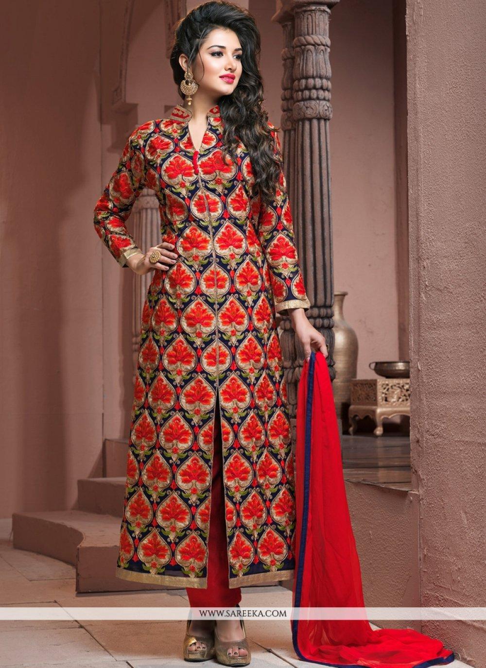Embroidered Work Georgette Designer Palazzo Salwar Kameez