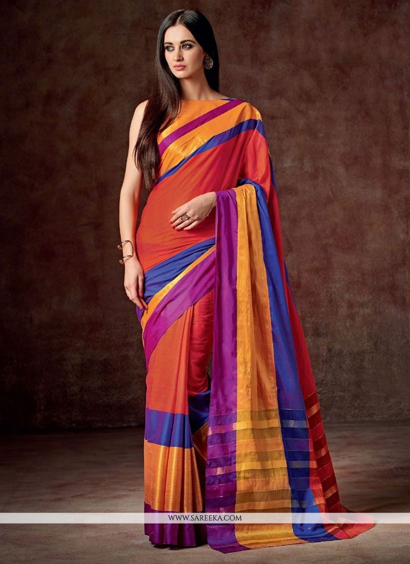 Cotton   Multi Colour Casual Saree