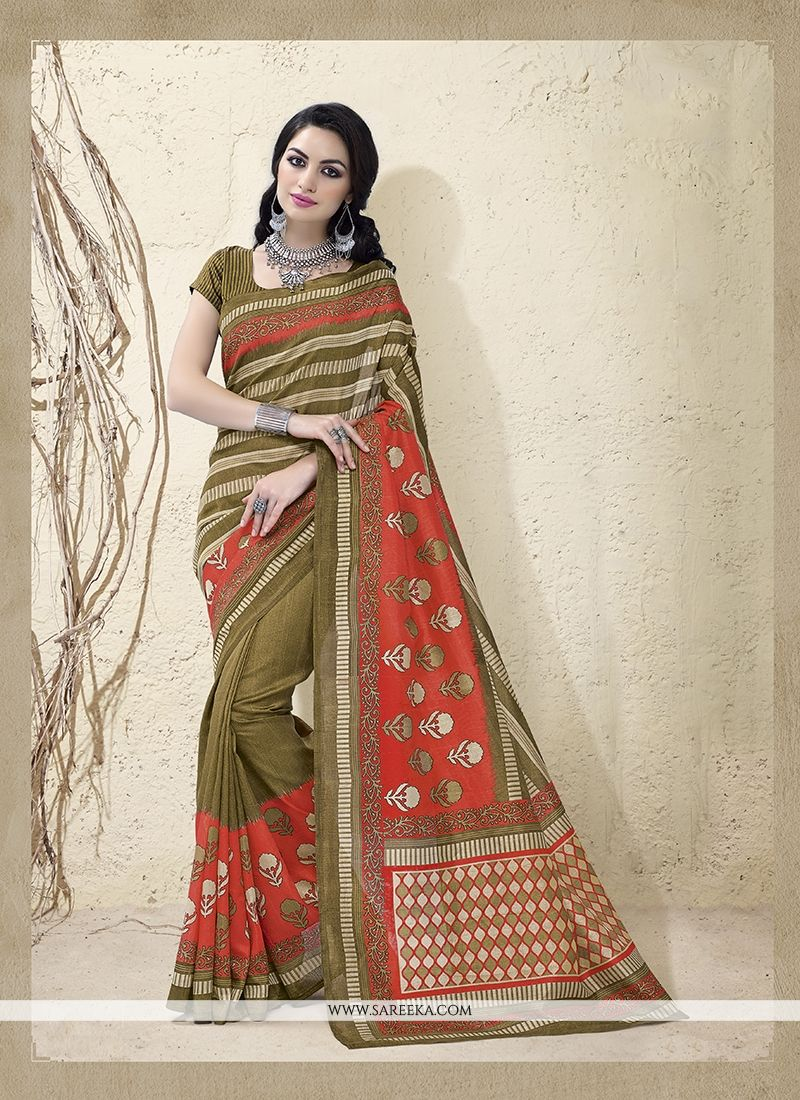 Cotton Silk Multi Colour Casual Saree