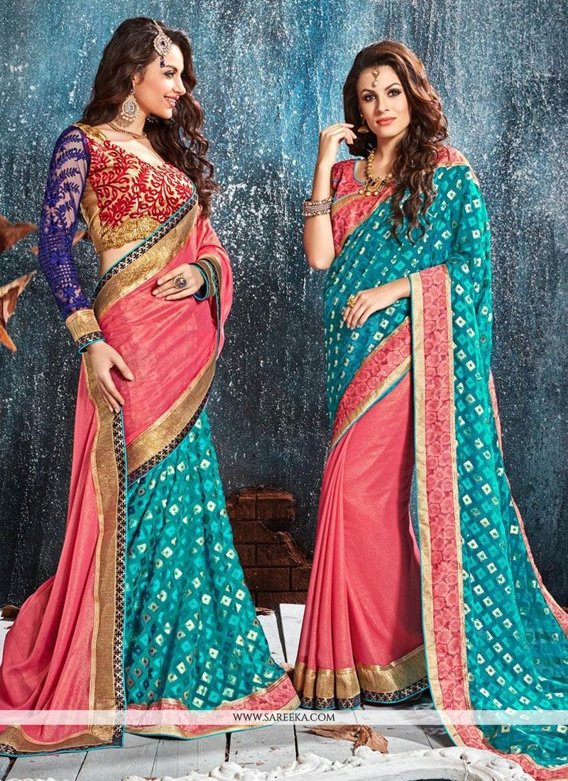 Foil Patch Border Work Classic Designer Saree