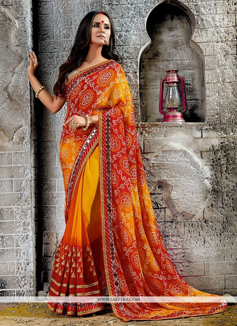 Print Work Designer Saree