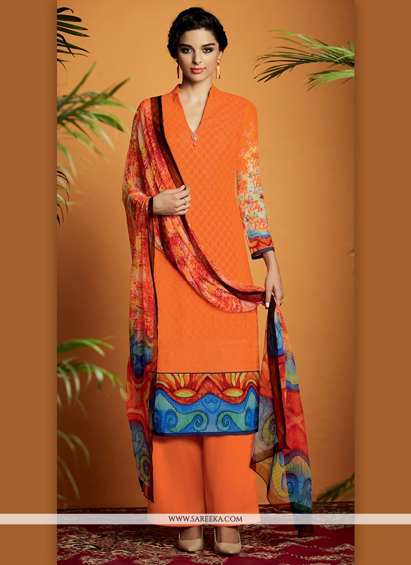 Buy Digital Print Work Cotton Satin Designer Suit Online : New ...