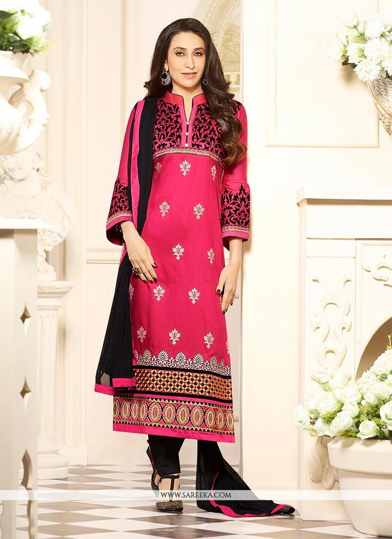 8ca9305bb4 Karishma Kapoor Cotton Churidar Designer Suit -