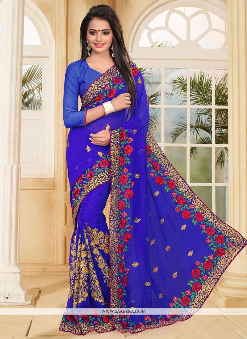 273b9120171 Buy Georgette Designer Saree Online   Indian Ethnic Wear -