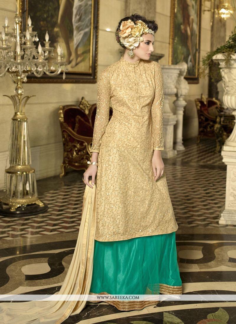 ae540b7310 Buy Beige Designer Lehenga Choli Online : UK -