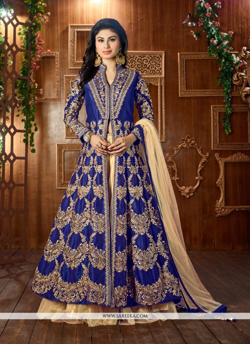 Blue Embroidered Work Lehenga Choli