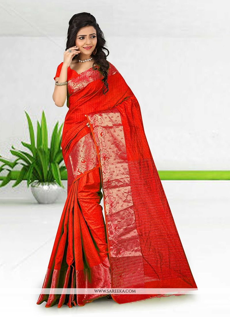 Lustrous Cotton   Patch Border Work Casual Saree