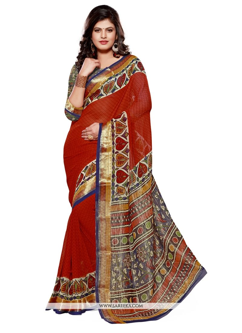 Lustrous Multi Colour Patch Border Work Jacquard Designer Saree