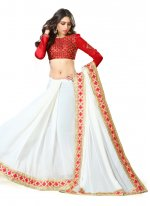 Georgette Off White Traditional  Saree