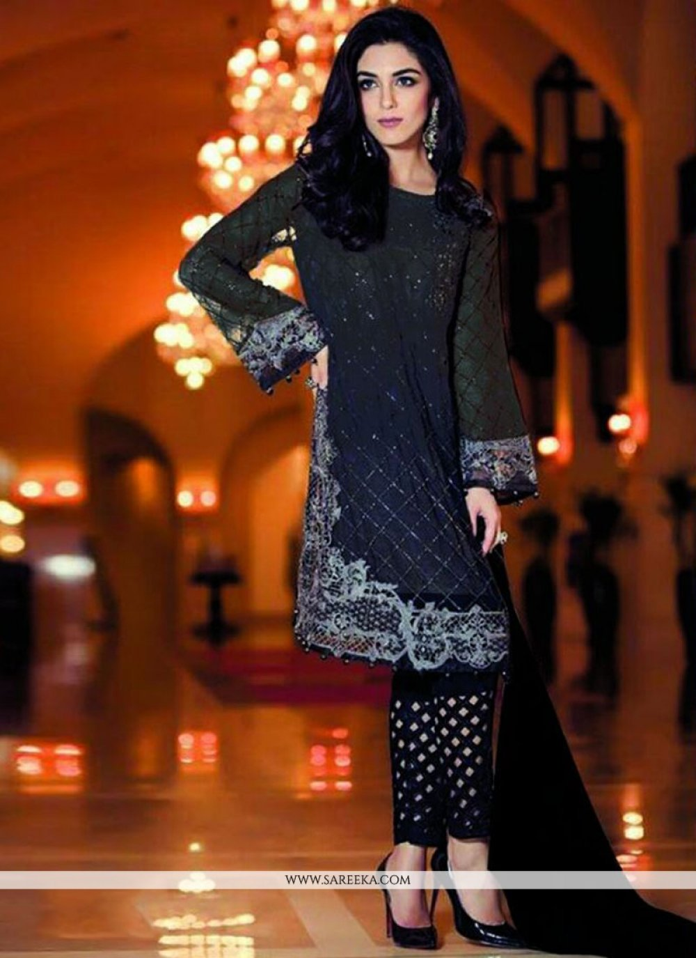 Navy Blue Designer Salwar Suit