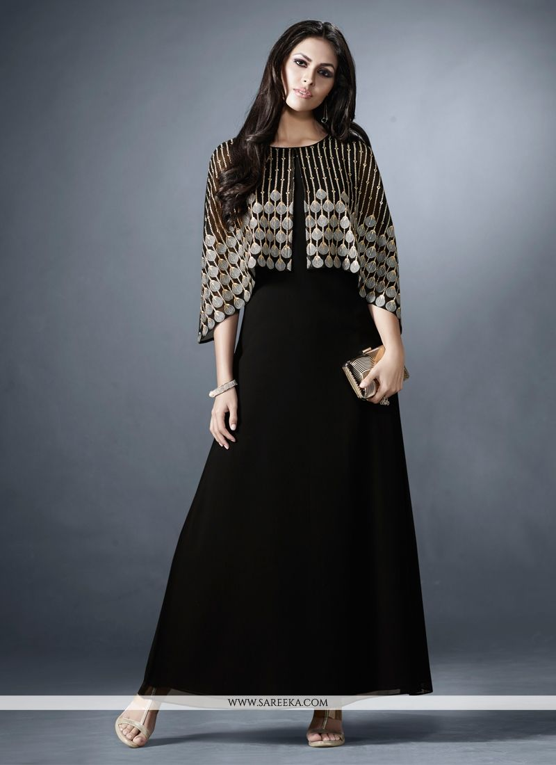Buy Black Embroidered Work Designer Kurti Online India