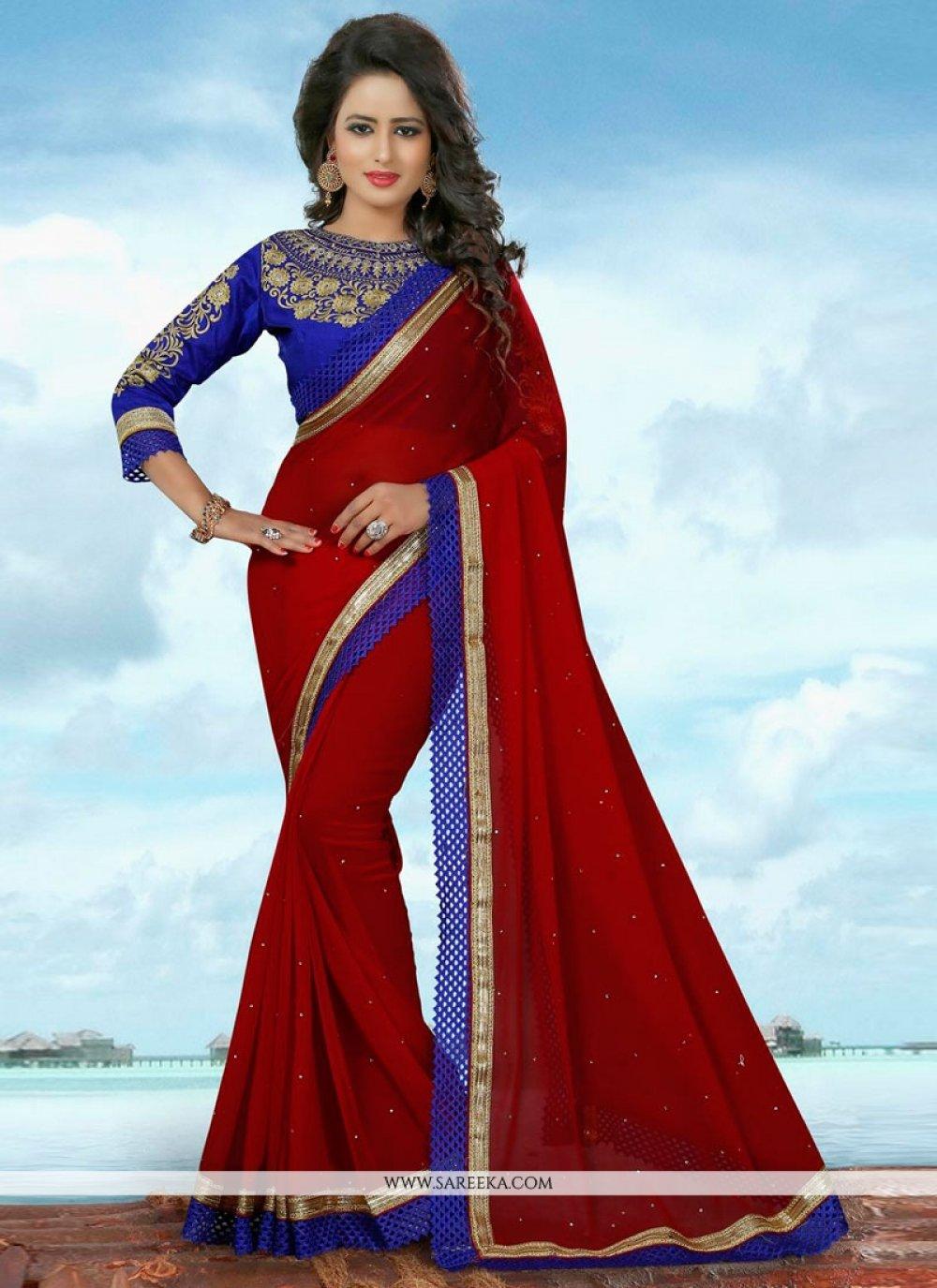 Banglori Silk Red Traditional  Saree