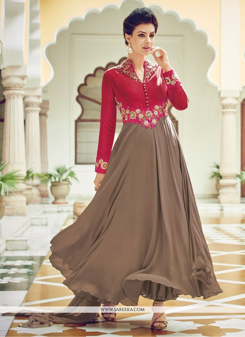 Cotton Silk Designer Suit - Anarkali Suits