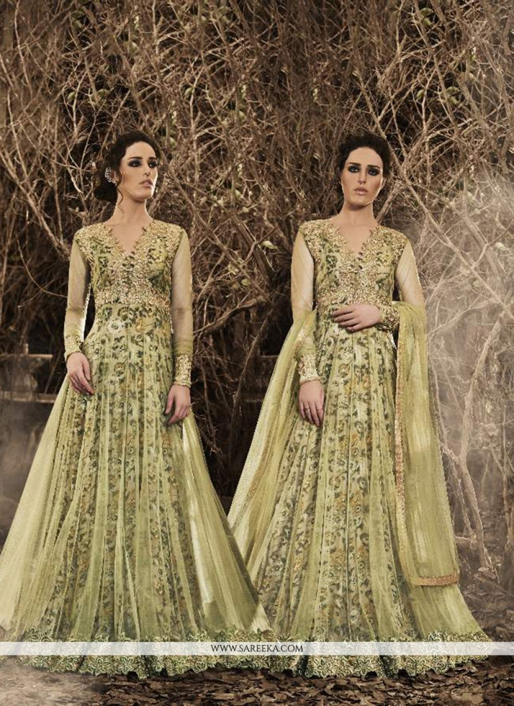 Embroidered Work Designer Floor Length Suit