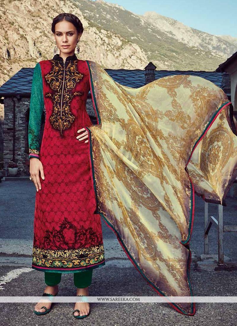 Embroidered Work Designer Straight Salwar Suit
