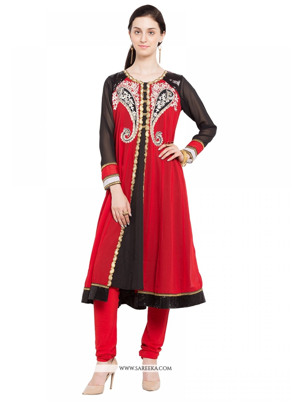Embroidered Work Georgette Designer Kurti