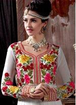 Off White Anarkali Salwar Kameez