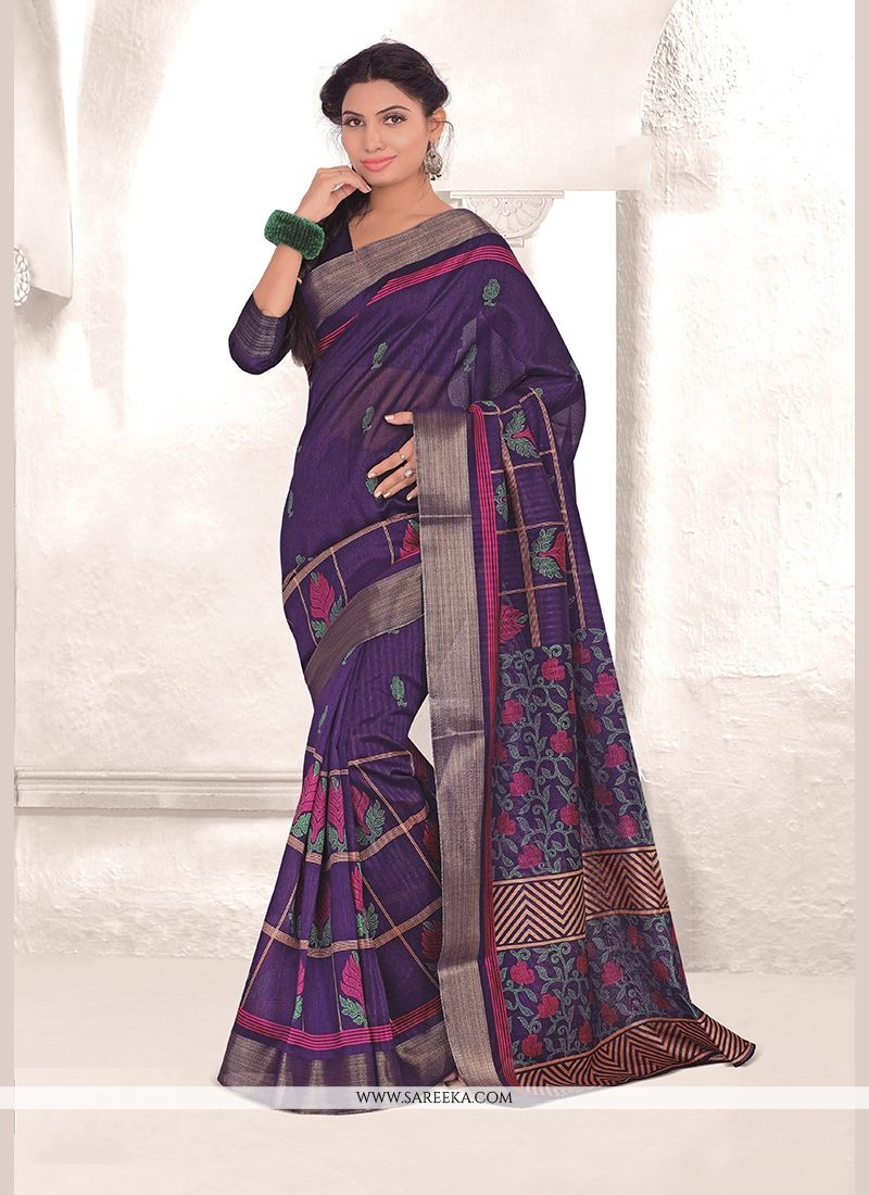 Mysore Udyog Purple Casual Saree