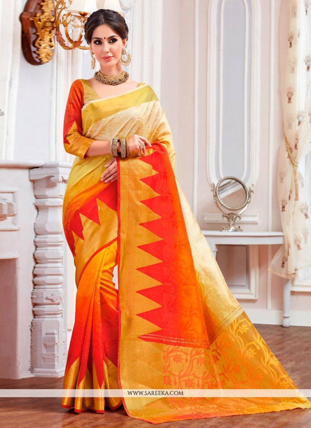 Print Work Designer Saree