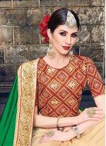 Patch Border Work Raw Silk Traditional Designer Sarees