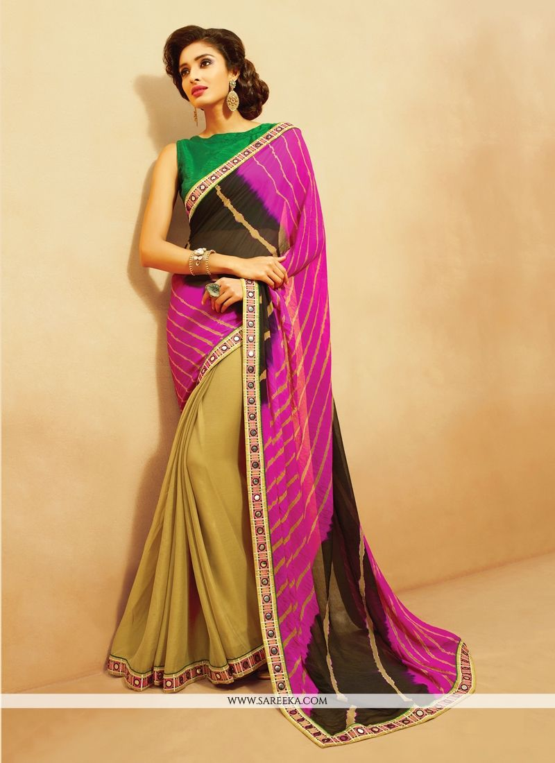 Georgette Multi Colour Designer Saree