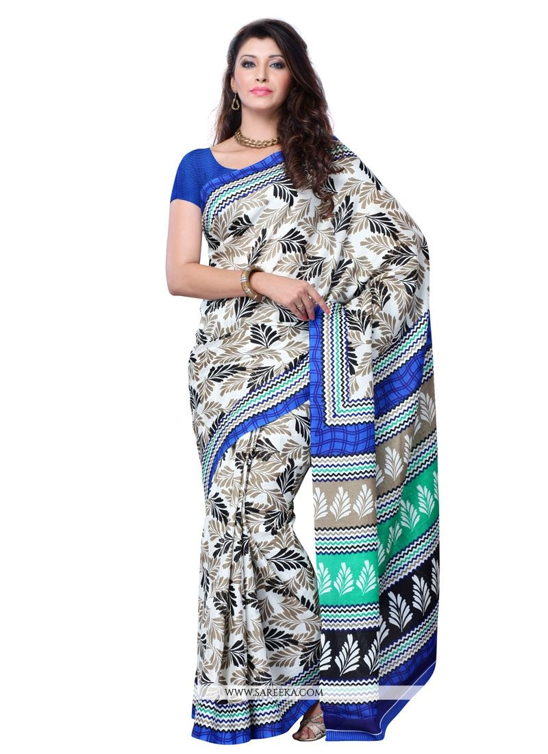 Multi Colour Art Silk Casual Saree