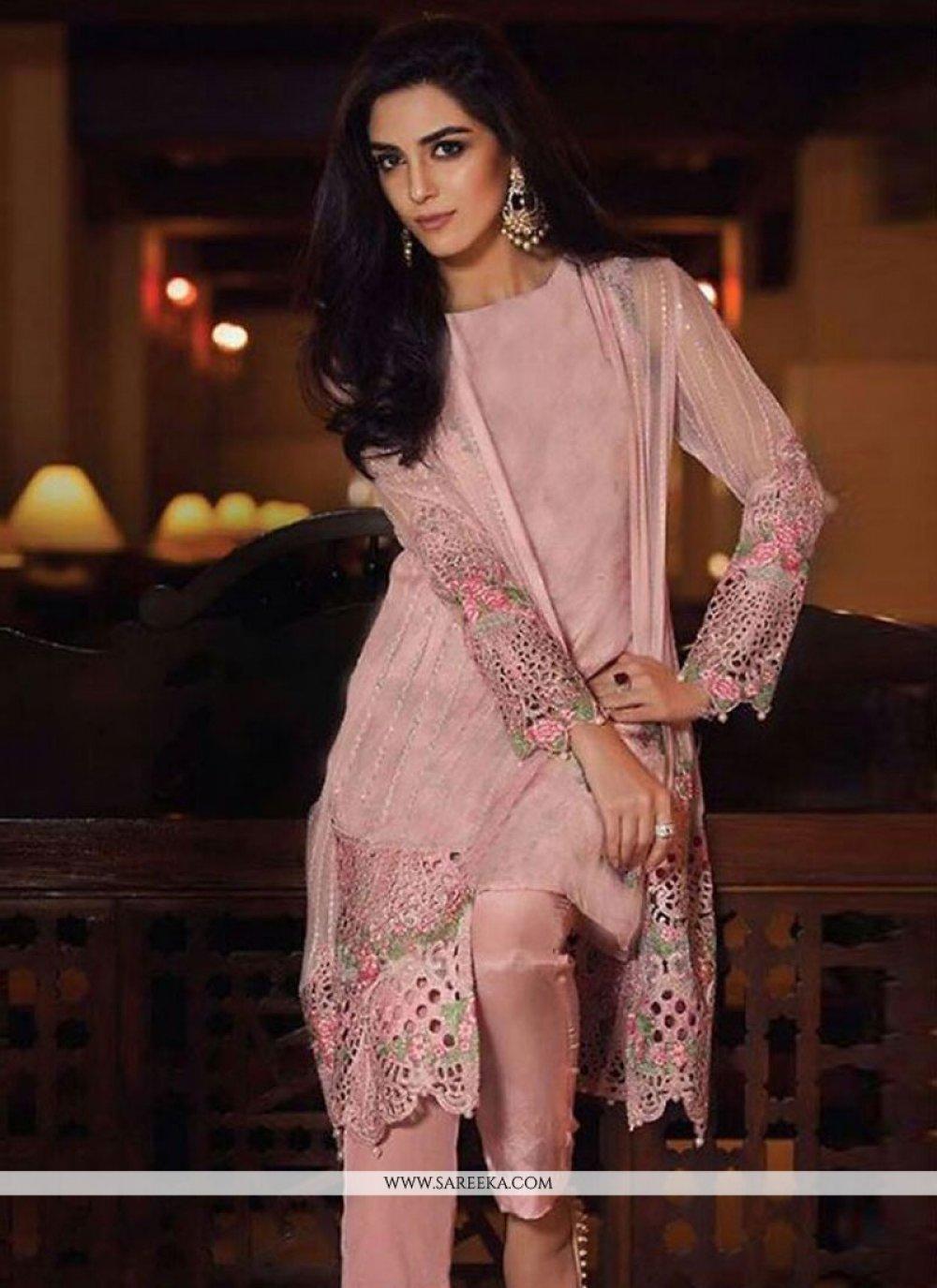 Pink Embroidered Work Designer Salwar Suit