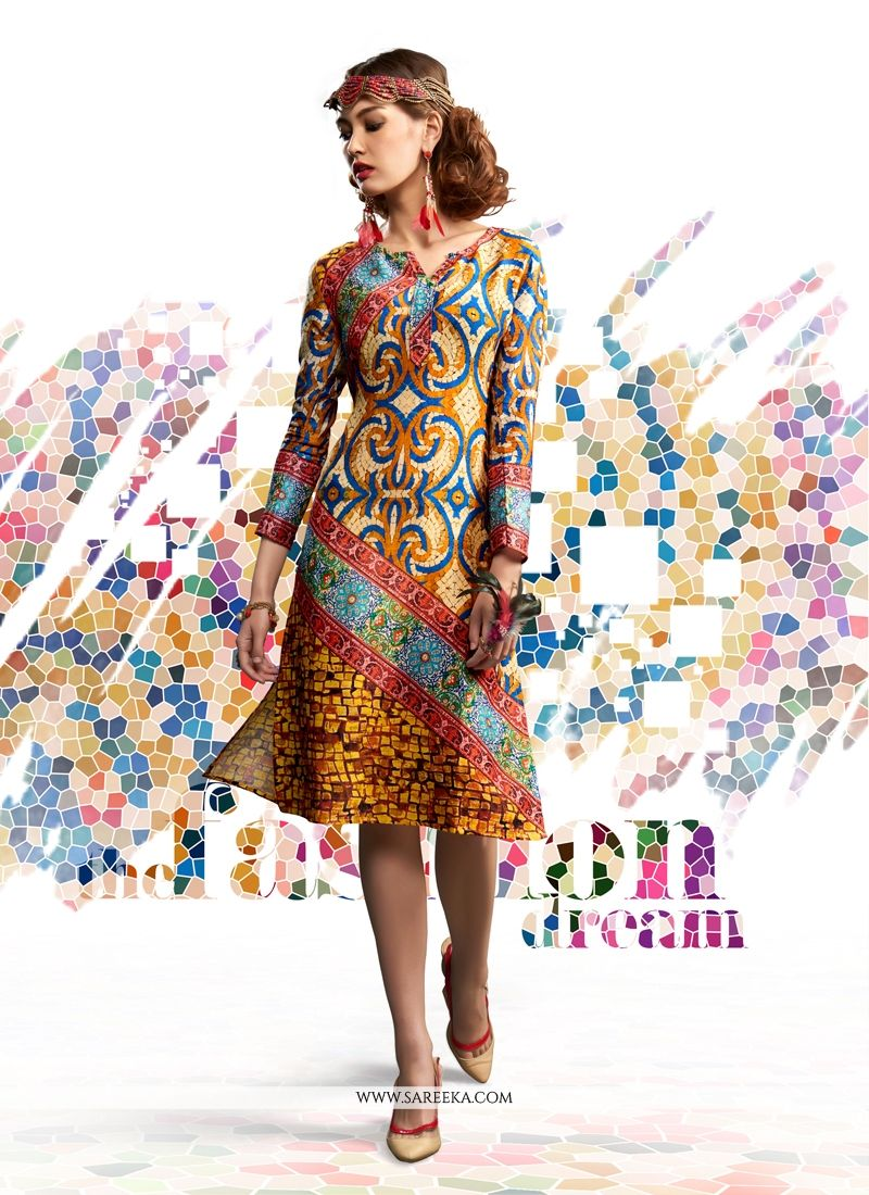 Digital latest printed kurtis