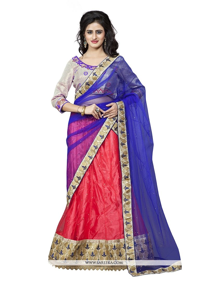 Patch Border Work A Line Lehenga Choli