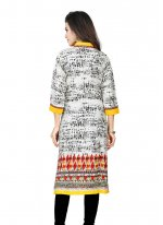 Multi Colour Print Work Cotton   Casual Kurti