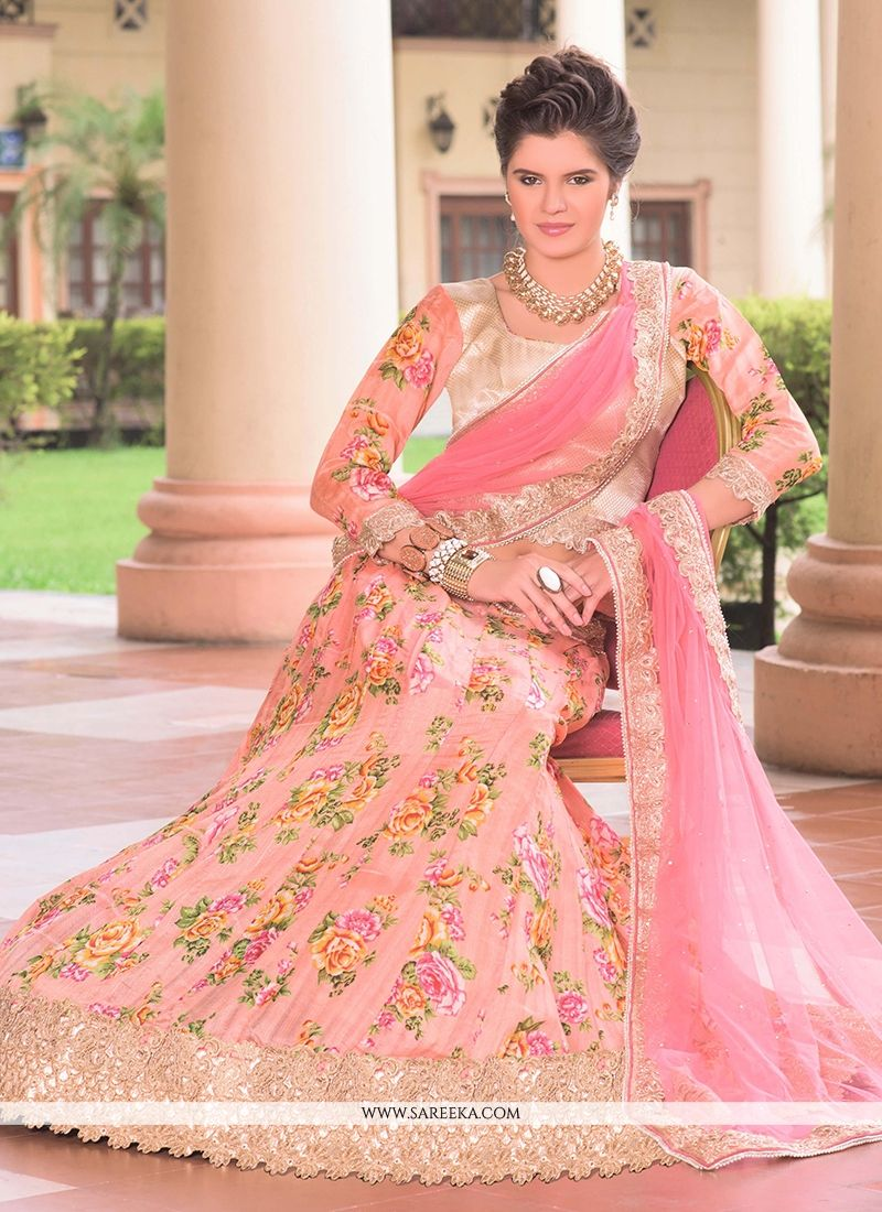 Patch Border Work Bhagalpuri Silk A Line Lehenga Choli