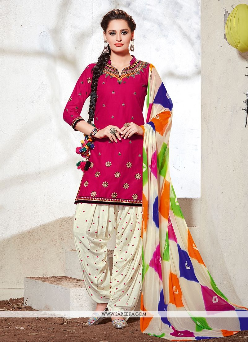 Buy Cotton Embroidered Work Designer Suit Online at lowest price ...