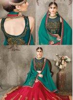 Silk Embroidered Work A Line Lehenga Choli