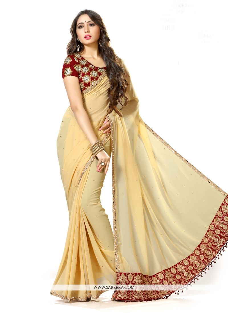 b242b43128 Buy Georgette Patch Border Work Traditional Designer Sarees Online : South  Africa -