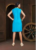 Turquoise Party Wear Kurti