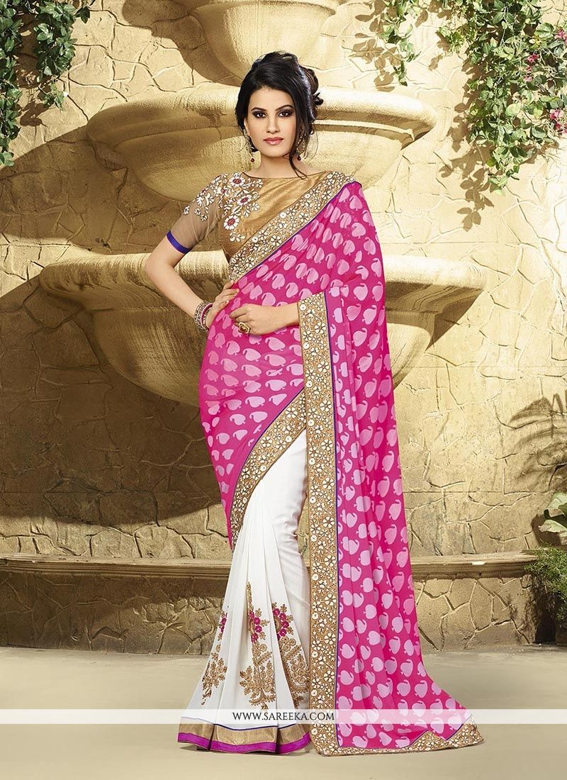 Hot Pink Classic Designer Saree
