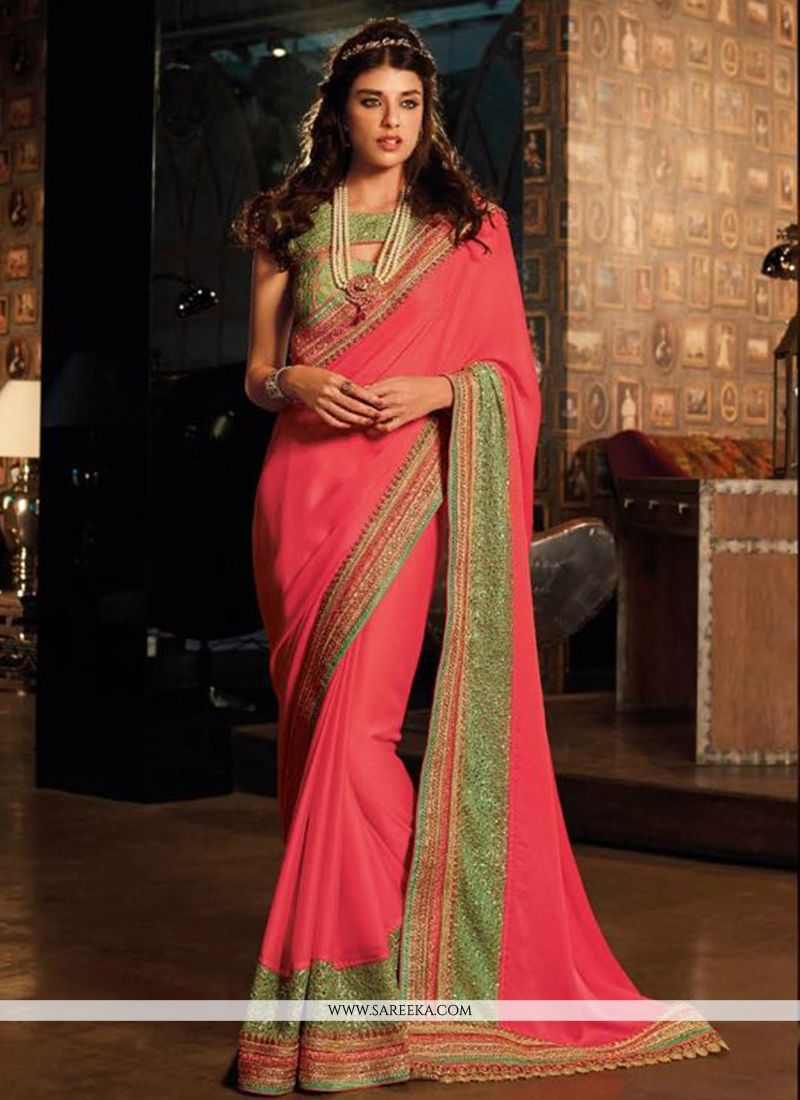9c6016f780 Buy Silk Embroidered Work Traditional Saree Online : UAE - Saree