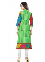 Print Work Cotton   Casual Kurti