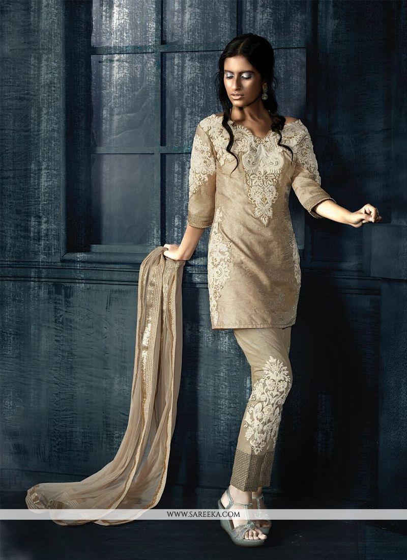 Fancy Fabric Resham Work Designer Suit