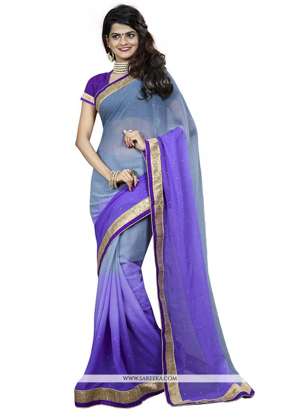 Purple Casual Saree